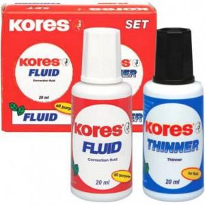 Set fluid corector si diluant KORES 20ml