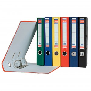 Biblioraft plastifiat de 7.5 cm, gri, A4, ARMA - ACOMI.ro