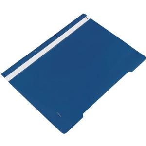 Dosar din plastic cu sina si perforatii, bleumarin, GLOBOX - ACOMI.ro