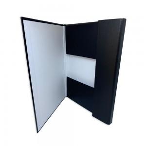 Mapa carton plastifiat,  50mm latime, cu elastic, negru - ACOMI.ro