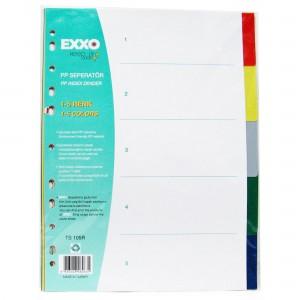 Separatoare plastic color, numeric 1-5, A4, EXXO - ACOMI.ro