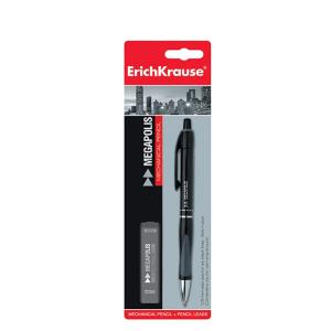 Blister Creion mecanic, mine 0.5mm HB, ErichKrause MEGAPOLIS CONCEPT - ACOMI.ro