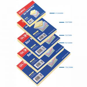 Notes adeziv 37x50mm, 100 file/set, galben pastel, Globox - ACOMI.ro