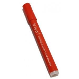 Permanent marker cu varf rotund, VIVO- rosu - ACOMI.ro