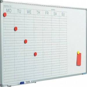 Planner magnetic saptamanal SMIT, 60x120cm ACOMI.ro