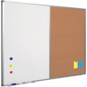 Tabla combi (whiteboard / pluta) 60 x 90 cm, profil aluminiu