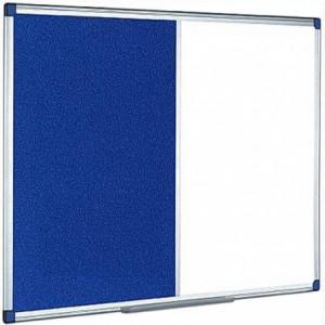 Tabla combi (whiteboard / panou textil) 90 x 120 cm, profil aluminiu