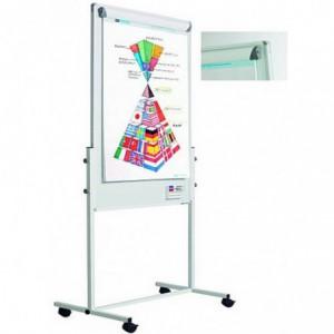 Flipchart magnetic, 120 x 75 cm, cu rotile, SMIT Combi
