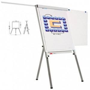 Flipchart magnetic 105 x 70 cm, SMIT Standard Plus, cu brate laterale