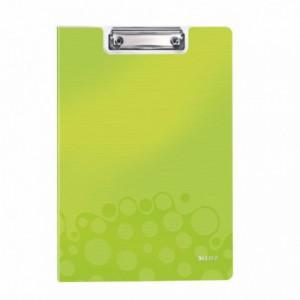 Clipboard dublu A4 verde-metalizat, plastifiat PVC, LEITZ Wow