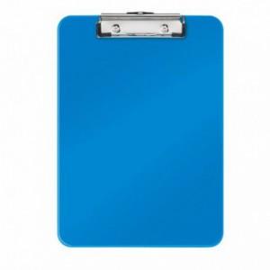 Clipboard simplu A4 albastru-metalizat, plastifiat PVC, LEITZ Wow