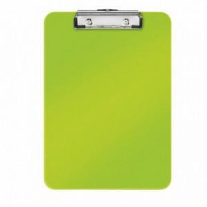 Clipboard simplu A4 verde-metalizat, plastifiat PVC, LEITZ Wow