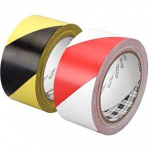 Banda adeziva de marcare alb/rosu