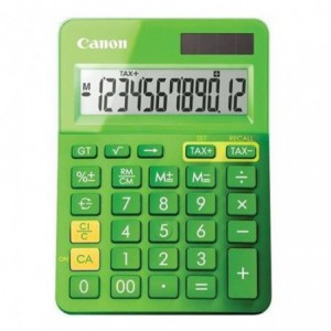 Calculator de birou verde, 12 digits, CANON