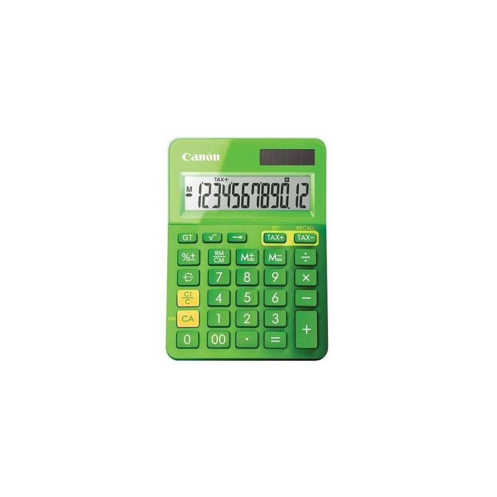Calculator de birou verde, 12 digits, CANON