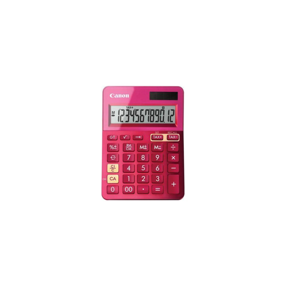 Calculator de birou roz, 12 digits, CANON