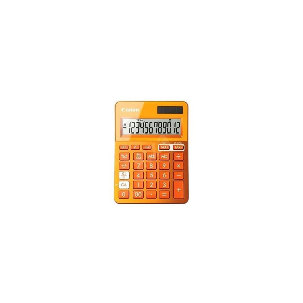 Calculator de birou portocaliu, 12 digits, CANON