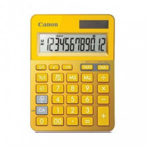 Calculator de birou galben, 12 digits, CANON
