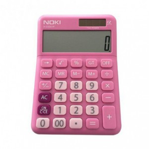Calculator de birou, 12 digits, NOKI - roz