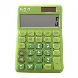 Calculator de birou, 12 digits, NOKI - verde