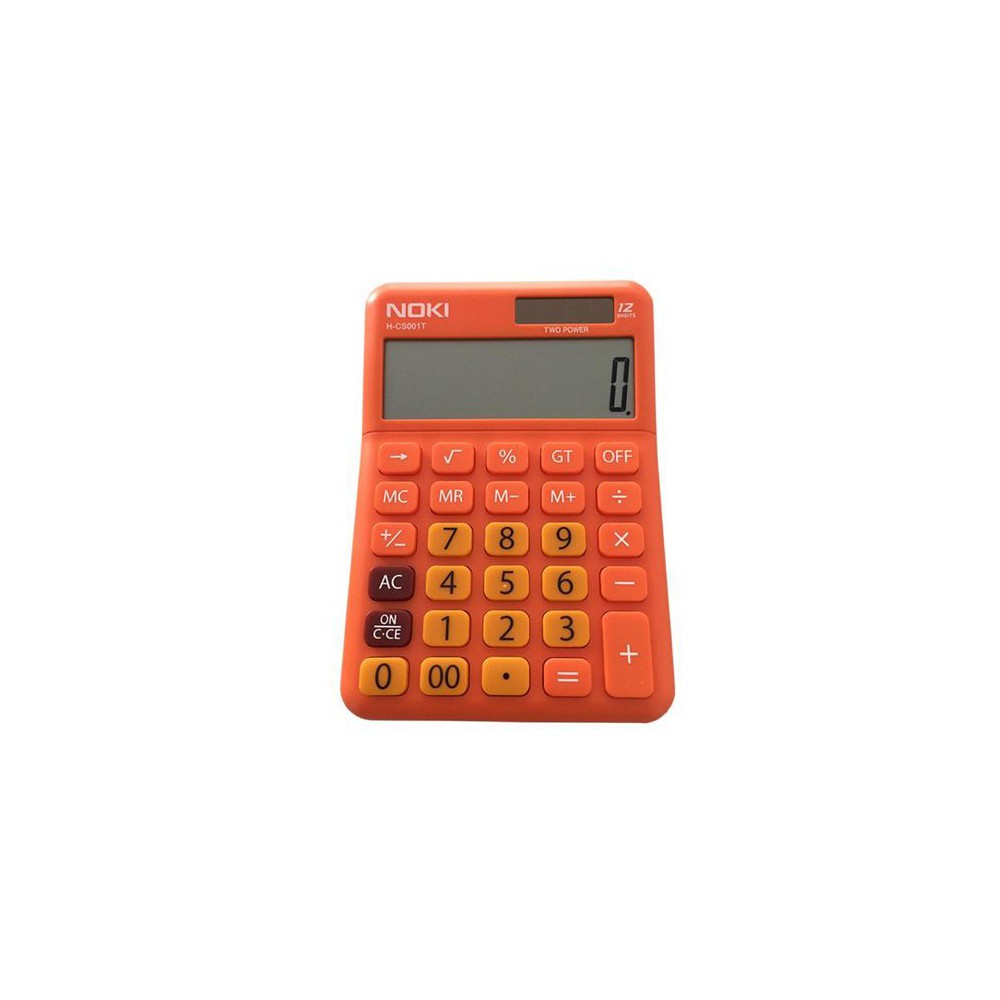 Calculator de birou, 12 digits, NOKI - portocaliu