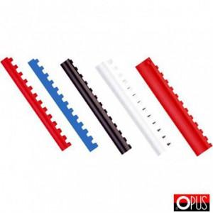 Inele plastic 8 mm, max. 45 coli, rosu, 100buc/cutie - OPUS