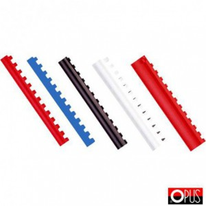 Inele plastic 8 mm, max. 45 coli, negru, 100buc/cutie - OPUS