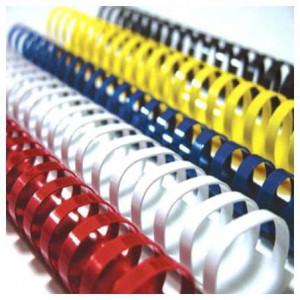 Inele plastic 25 mm, max. 240 coli, albastru, 100buc/cutie, ACM BRAND