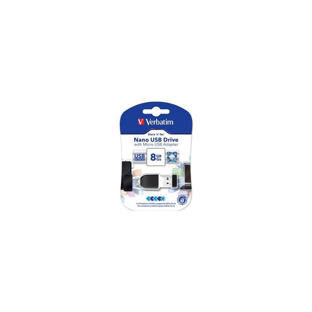 Memorie USB Verbatim Nano 8GB + Adaptor OTG VER49820
