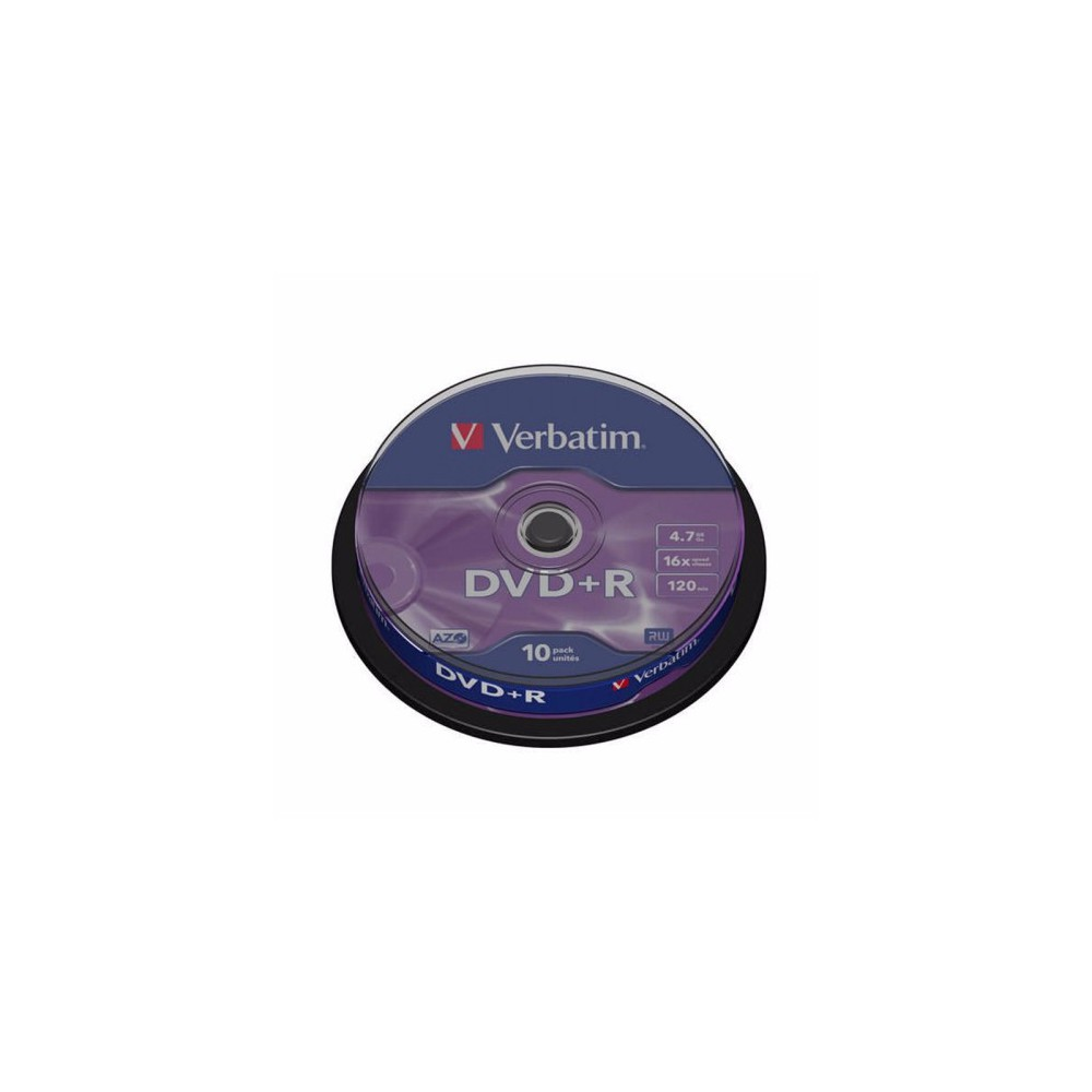 DVD+R Verbatim, 16x, 4.7 GB - Matt Silver, 10buc/bulk VER43498