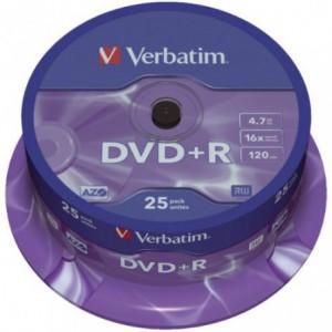 DVD+R Verbatim VER43500, 16x, 4.7 GB - Matt Silver VER43500