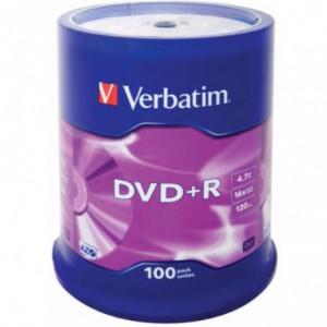 DVD+R Verbatim, 16x, 4.7 GB - Matt Silver, 100buc/bulk VER43551