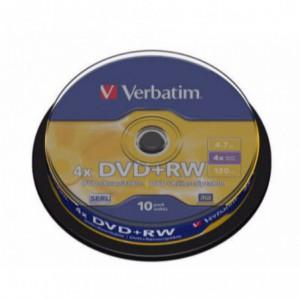 DVD RW Verbatim, 4x, 4.7 GB - Matt Silver, 10buc/bulk VER43488