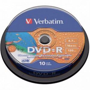 DVD-R Verbatim, 16x, 4.7 GB - Matt Silver, 10 buc/bulk VER43523