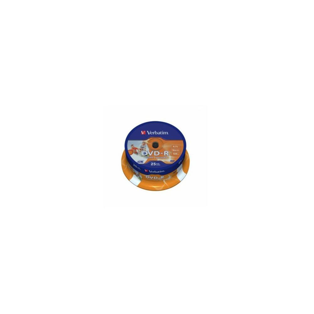 DVD-R Verbatim, 16x, 4.7 GB - Matt Silver, 25buc/bulk VER43522