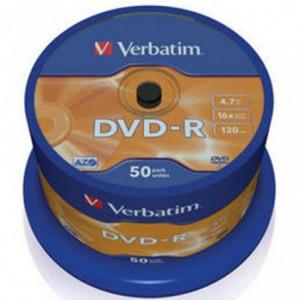 DVD-R Verbatim  VER43548, 16x, 4.7 GB - Matt Silver VER43548
