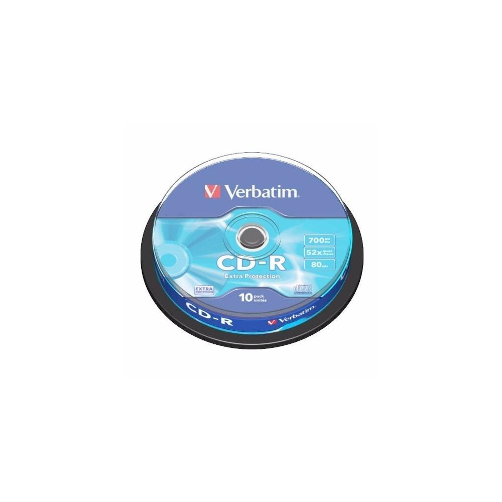 CD-R Verbatim, 52x, 700mb, 10buc/bulk VER43437