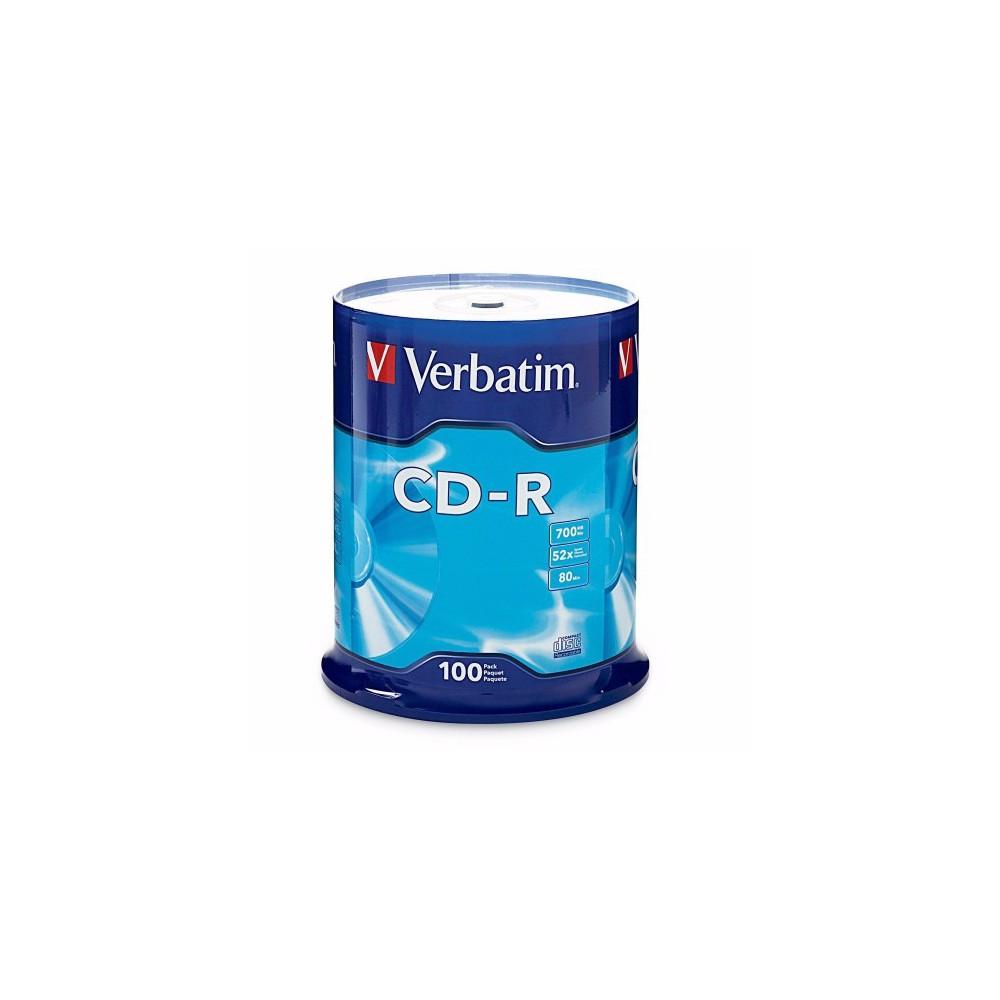 CD-R Verbatim  VER43411, 52x, 700mb, 100 buc/bulk VER43411