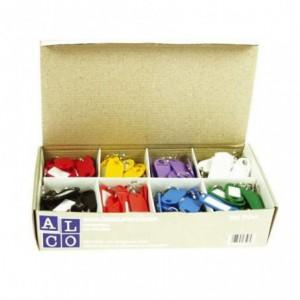 Etichete pentru chei ALCO - culori asortate ACOMI.ro