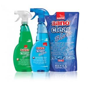 Rezerva detergent geamuri SANO Clear Blue, 750 ml ACOMI.ro
