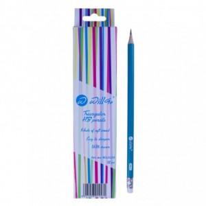 Creion HB cu radiera,ascutit, forma triunghiulara Willgo - ACOMI.ro