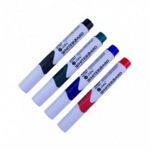 Whiteboard marker cu grip, albastru - Willgo - ACOMI.ro