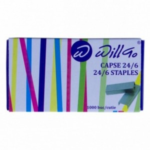 Capse 24/6, 1.000 buc/cutie Willgo - ACOMI.ro