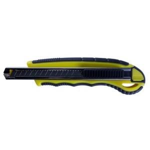 Cutter mic (9 mm) cu sina metalica, grip si sistem automat de inlocuire lama cu 5 rezerve Willgo - ACOMI.ro