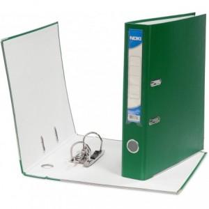 Biblioraft plastifiat de 8.0 cm, verde, A4, NOKI - ACOMI.ro