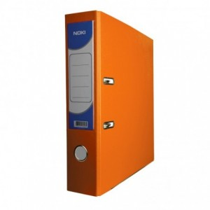 Biblioraft plastifiat de 8.0 cm, portocaliu, A4, NOKI - ACOMI.ro