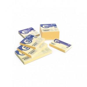 Notes adeziv 75x100mm, 100 file, galben pastel, FORPUS - ACOMI.ro