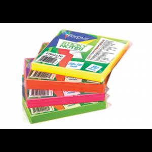 Notes adeziv 75x75mm,  80 file, verde neon, FORPUS - ACOMI.ro