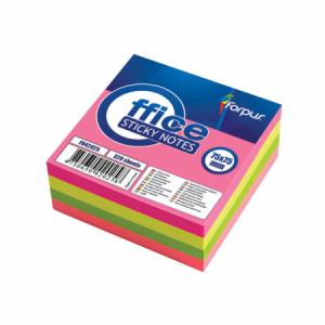 Cub notes adeziv 75x75mm, 320 file, 4 culori neon, FORPUS - ACOMI.ro