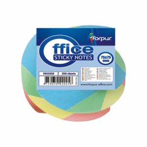 Notes adeziv 75x75mm, 350 file, twisted culori pastel, FORPUS - ACOMI.ro
